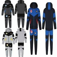 Boys Kids fleece tracksuit Sports Jogging Bottom Trousers Hoodie age 7-13 years