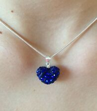 Blue Heart Necklace - Love Pendant - Best Friends Teenager Girl Jewelry&Gift Box