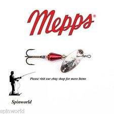 Mepps XD Xtra Deep  SILVER / RED spinner Size - 1 weight 3g. ( obrotówka )