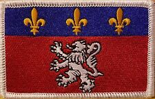 LYON FRANCE Flag Embroidered Iron-On Patch Military Emblem  White Border