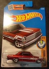 2016 Hot Wheels CUSTOM Super Treasure Hunt 63 Chevy II with Real Riders