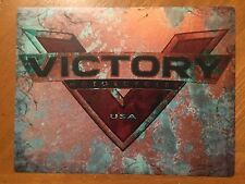 Tin Sign Vintage Victory Motorcycles USA 3