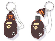 A Bathing Ape Bape Head Baby Milo USB Flash Memory Driver 8GB Keychain Win Mac
