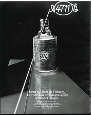 Publicité Advertising 1984 Eau de Cologne N°4711