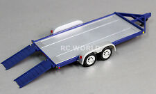 RC Scale Accessories METAL CAR TRAILER W/ Ramps 1/24 For KYOSHO MINI-Z  -BLUE-