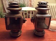 PAIR SOLAR NO 1032 BRASS 3 TIER OIL SIDE LAMPS