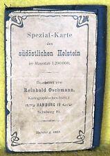 Spezial-Karte des südöstlichen Holstein - Massstab 1:200.000 - Hamburg 1903