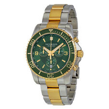 Victorinox Swiss Army Maverick Chronograph Green Dial Two-tone Mens Watch 241693