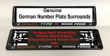 Honda Type R Mugen Power Number plates Surrounds Pair