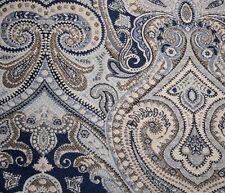 Blue Paisley Upholstery Equestrian Delft Richloom Fabric