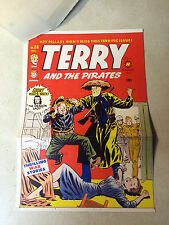 TERRY and the PIRATES #24 COVER ART original cover proof 1950 w/PRINTER INVOICE