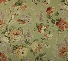 "P KAUFMANN ESSENCE MEADOW SAGE GREEN FLORAL MULTIUSE FABRIC BY THE YARD 54""W"