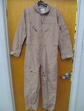 CARTER 44R COVERALLS FLYERS FLIGHT SUIT DESERT TAN NOMEX CWU-27 US MILITARY