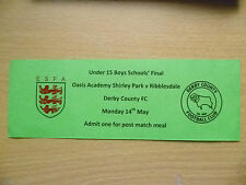 Tickets:U-15 Boys School's FINAL- OASIS ACADEMY SHIRLEY PARK v RIBBLESDALE,14/5