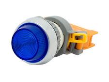 PLN-22A ATI Blue LED Pilot Indicator Light 22MM 24V AC/DC Replaceable Lamp