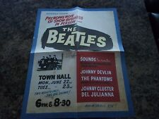 THE BEATLES 1964 NEW ZEALAND RARE POSTER