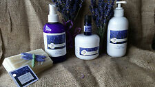 Gift Set of Lavender Essential Oil  Creme Soap and Mist Set