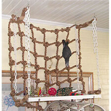 Parrot Birds Pet Rope Net Swing Ladder Chew Toys Parakeet Climbing Play Gym US