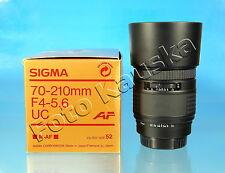 Sigma UC zoom 70-210mm/4-5.6 para Sony Minolta a objetivamente lens objectif - (75233)