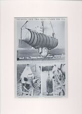 Helmet Diver. Studying life half a mile under the sea. Scarce print circa 1940s