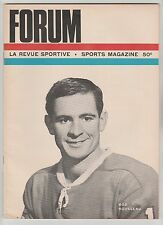 MONTREAL CANADIENS CHICAGO BLACKHAWKS FORUM 1966 NHL PROGRAM BOB ROUSSEAU COVER