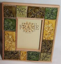 """NEW LEAF PICTURE PHOTO FRAME TableTop 3.5"""" x 5""""  NICE"""