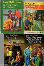 Enid Blyton  SECRET SEVEN x 5 WELL DONE WIN THROUGH,  ADVENTURE, GO AHEAD, TRAIL
