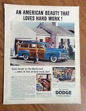 1949 Dodge Coronet Station Wagon Ad An American Beauty that Loves Hard Work