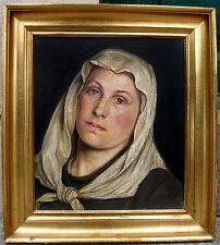 Holga Reinhard. Rare female pioneer artist. self portrait. Dated 1882