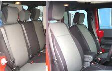 Jeep Wrangler 2007-10 Unlimited JK neoprene Full set seat cover 4 dr Gray JPno4d