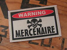 SNAKE PATCH ..:: WARNING MERCENAIRE ::.. AIRSOFT PAINTBALL US TAN SABLE