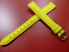 12 mm GELB UHRENARMBAND DORNSCHLIEßE ARMBAND KALBSLEDER UHRENBAND LEDER