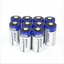 10 pcs Lithium 1500mAh CR123A 3V 123 123A Batteries,more than Energizer EXP 2025