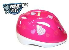 Pink Hearts Girls Child Youth Medium Kids Bicycle / Scooter All Purpose Helmet