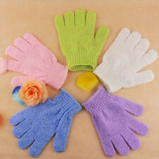 2X Shower Bath Glove Exfoliating Wash Skin Spa Massage Loofah Body Scrubber 0h