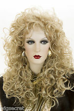 Dramatic, Glamorous Gypsy Style Layered Shag Blonde Brunette Red Wavy Curly Wigs