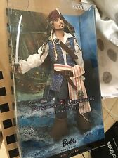 BARBIE DOLL PINK LABLE CAPTAIN JACK SPARROW DISNEY PIRATES OF THE CARIBBEAN 2010
