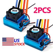 2X 120A Sensored Brushless Speed Controller ESC for 1/8 1/10 1/12 Car US 27VG