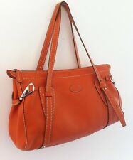 Original Tods Luxus Handtasche Shopper Leder Top Zustand orange