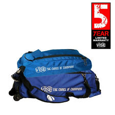 Vise Blue 3 Ball Tote Bowling Bag With Shoe Pouch