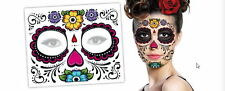 5 Day of The Dead Floral Dia De Los Muertos Halloween Zombie Face Tattoos Gift