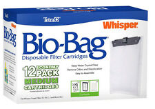 TETRA MEDIUM BIO BAGS FOR WHISPER POWER FILTERS. FITS 10, 10i, E & J  - 12 PACK
