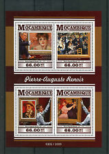 Mozambique 2015 MNH Pierre-Auguste Renoir 4v M/S Paintings Jeanne Samary