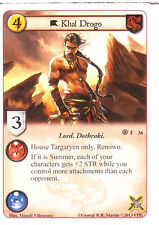 3 x Khal Drogo AGoT LCG 1.0 Game of Thrones Fire and Ice 36