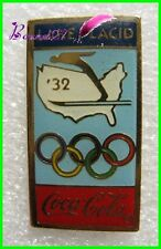 Pin's pins Badge Coca Cola Jeux Olympique Lake Placid 1932 #H3