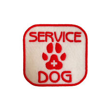 Service Dog Iron on and Sew On Emblem Embroidered Medical Patch
