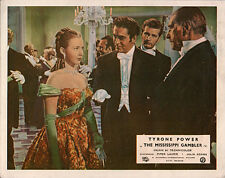 Mississippi Gambler Tyrone Power Julia Adams original lobby card dressed up