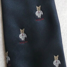 MCP TIE CLASSIC MALE CHAUVINISTIC PIG CREST MOTIF BY CANDA VINTAGE RETRO 1980s
