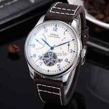 43mm Parnis White Dial Power Reserve Mechanical Automatic men's Watch 235