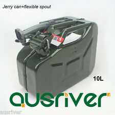 New 10L Portable Jerry Can+Spout Spare Petrol Storage Can for 4WD Motorcycle